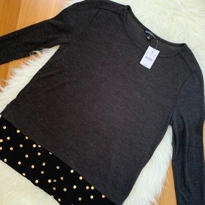 NWT J. Crew Mercantile Polka Dot Top